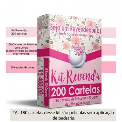 Kit Revenda com 200 Cartelas