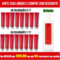 Igora Royal Kit 8-77 + 7-77 + OX 30 volumes (brinde)