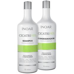 Kit Inoar Shampoo + Condicionador Cicatrifios 1000ml