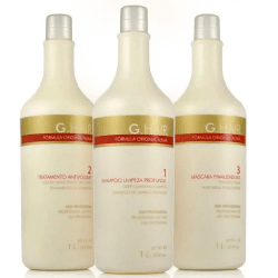 Ghair Escova Progressiva G-Hair Alemã 3 Kits de (3 x 1 litro)