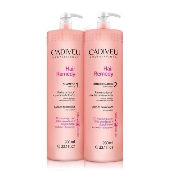 Cadiveu Shampoo e Condicionador Hair Remedy 980 ml
