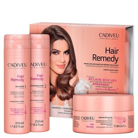 Cadiveu Hair Remedy Reparador Kit Trio