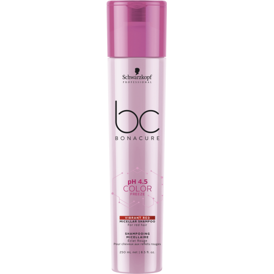 Schwarzkopf Shampoo Micellar pH 4.5 Color Freeze Vibrant Red 250ml