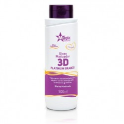 Gloss Matizador Magic Color 3D Platinum Branco -  Efeito Platinado 500ml
