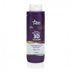 Gloss Matizador Magic Color 3d Ice Blond - Efeito Cinza 500ml