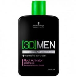 Schwarzkopf 3D Men Root Activator Shampoo Ativador de Raizes 250ml