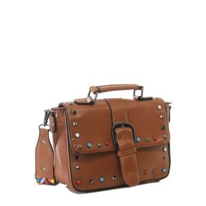 Bolsa de Mão com Detalhes Coloridos | F18316BR
