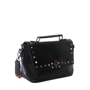 Bolsa de Mão com Detalhes Coloridos | F18209BL