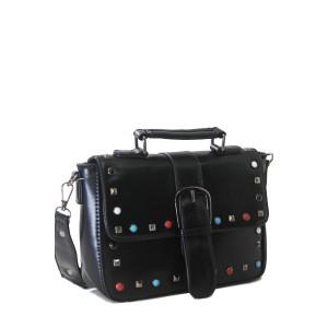 Bolsa de Mão com Detalhes Coloridos | F18316BL