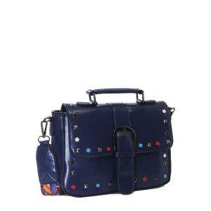 Bolsa de Mão com Detalhes Coloridos | F18316BLU