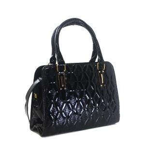 Bolsa Verniz com Estampa Texturizada | H901BL