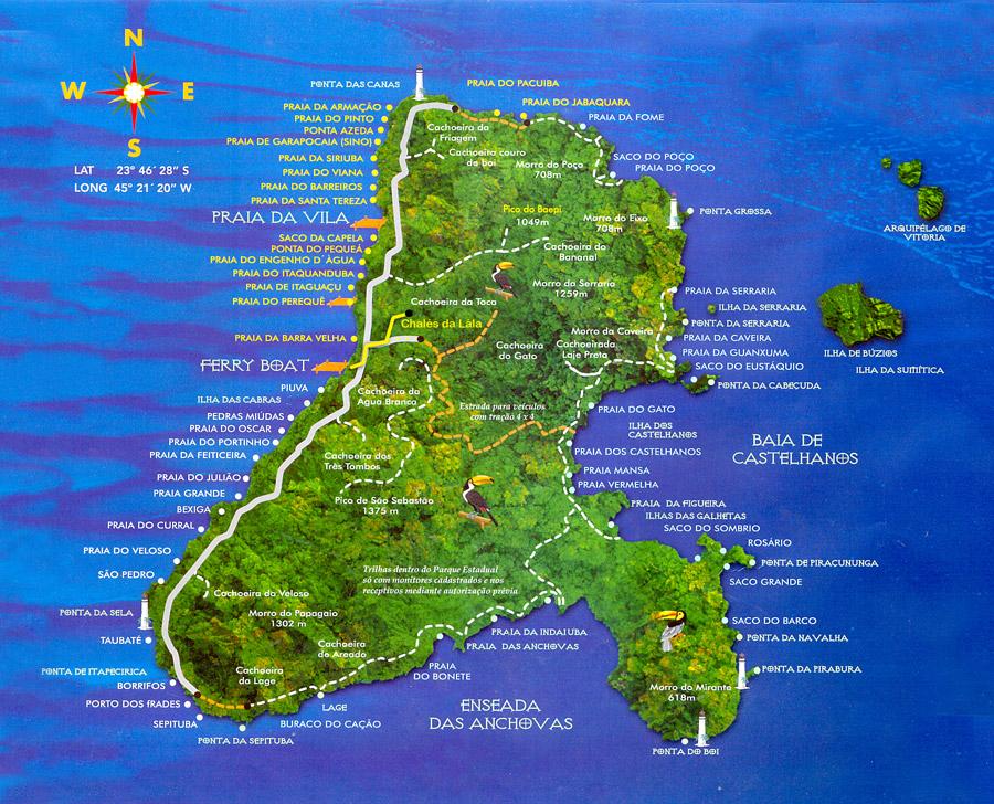 mapa de ilhabela passeios em ilhabela