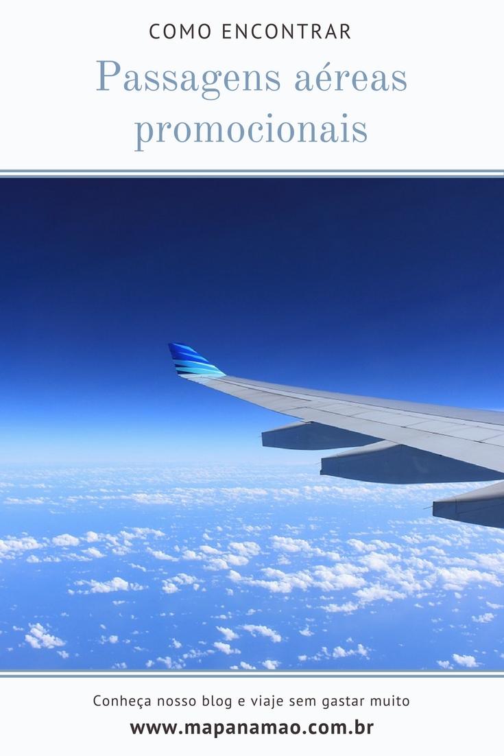 como encontrar passagens aéreas promocionais