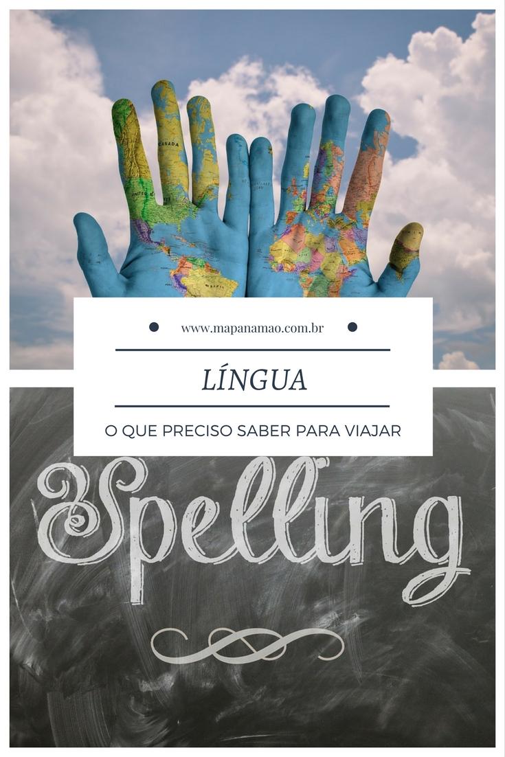 língua estrangeira para viagem