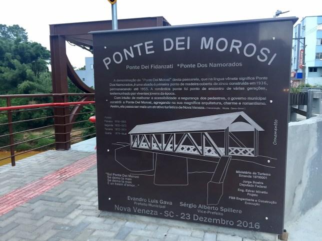 ponte dos namorados - Nova Veneza SC: saiba o que fazer e onde se hospeda em Nova Veneza santa catarina
