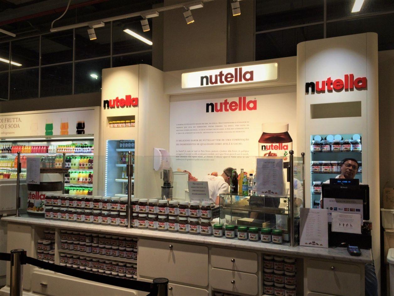O quiosque da Nutella