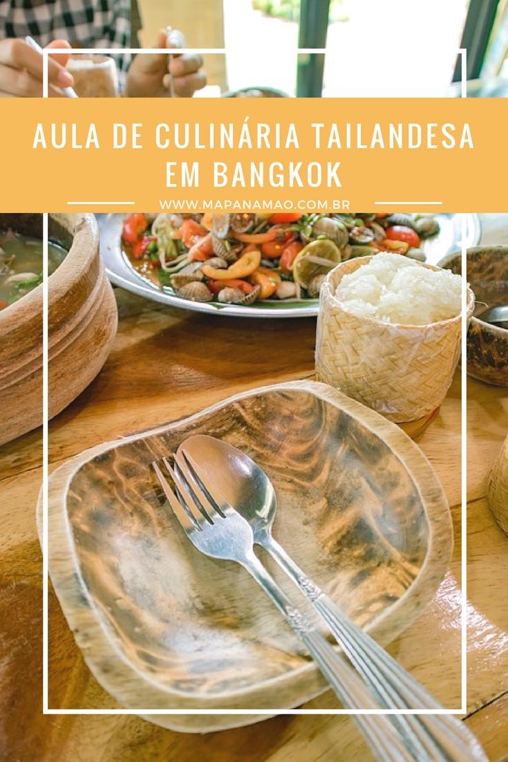 aula de culinária tailandesa