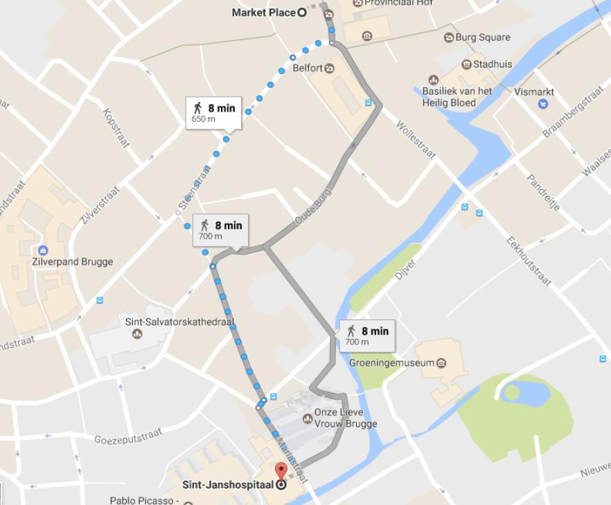 pontos turísticos Bruges