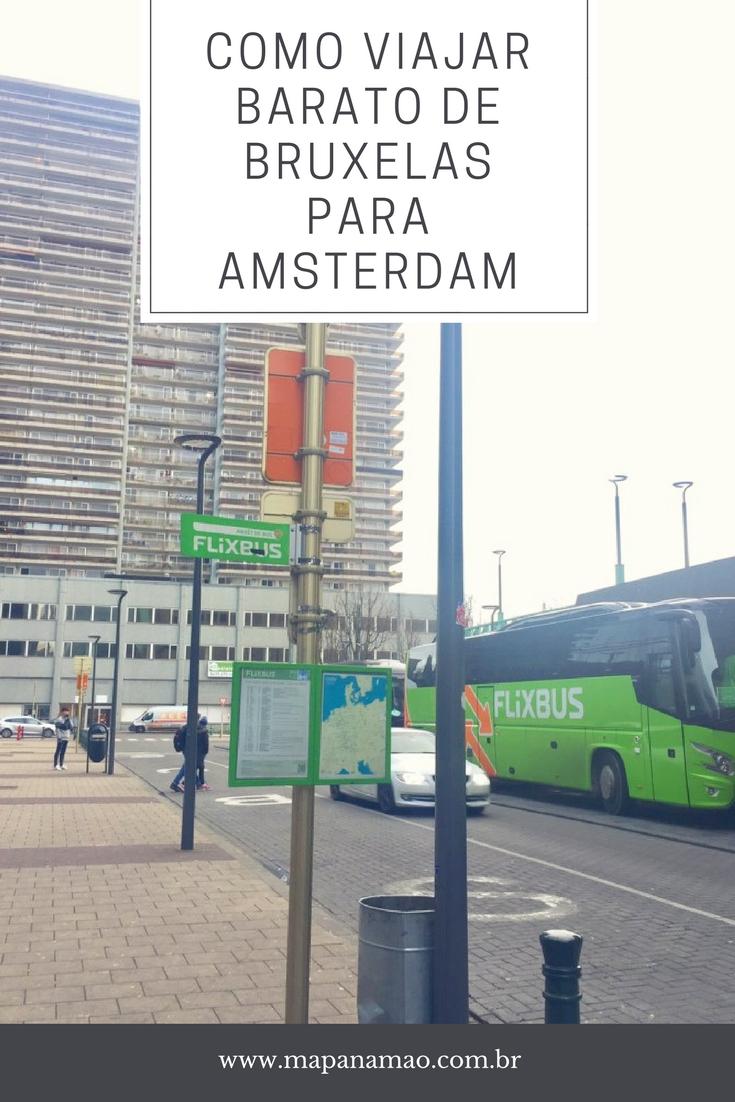 como viajar barato de bruxelas para amsterdam