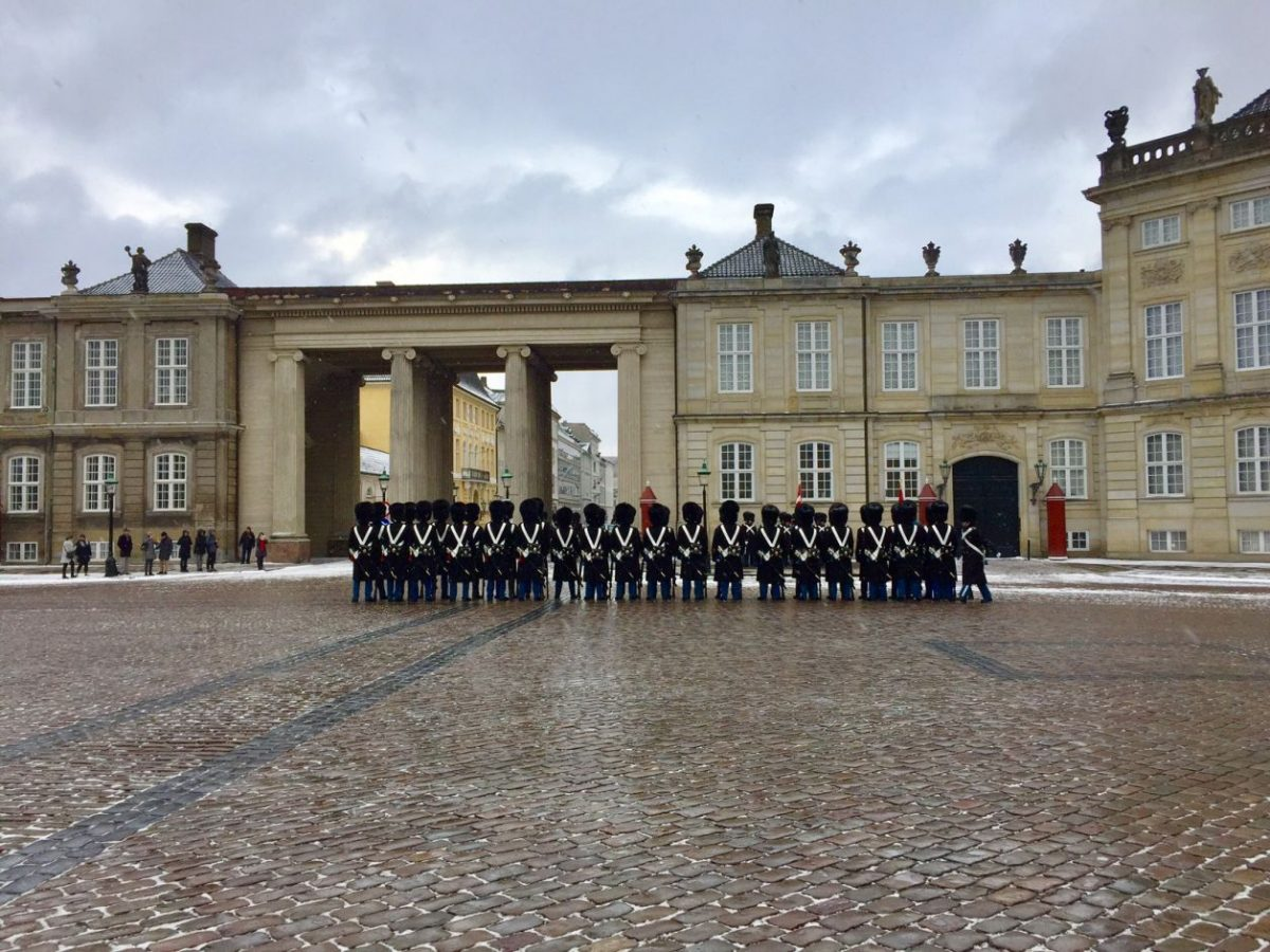 troca de guarda Copenhague