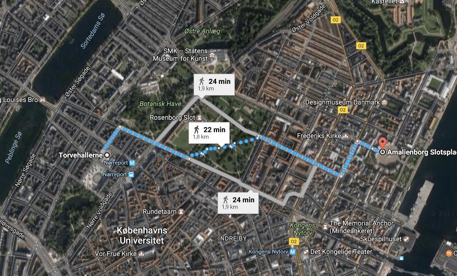 mapa dicas de Copenhagen