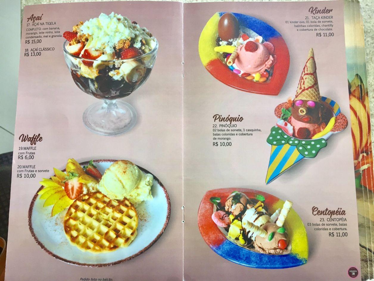 sorvetes venezzia