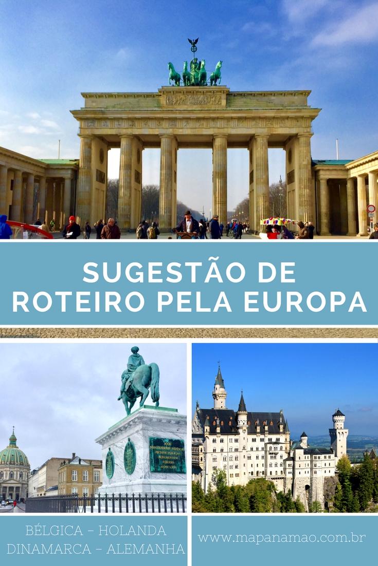 sugestão de roteiro pela europa
