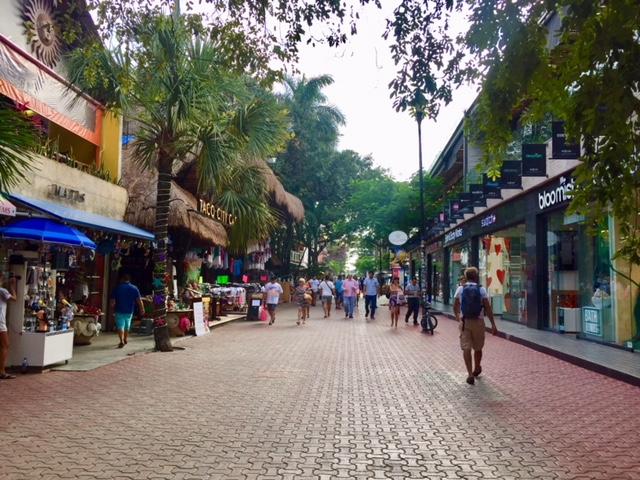 5 avenida em Playa del Carmen