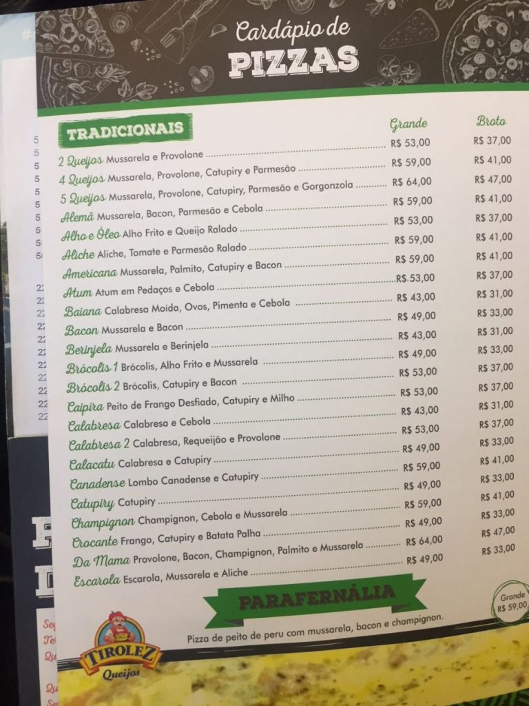 Preços de padarias em SP