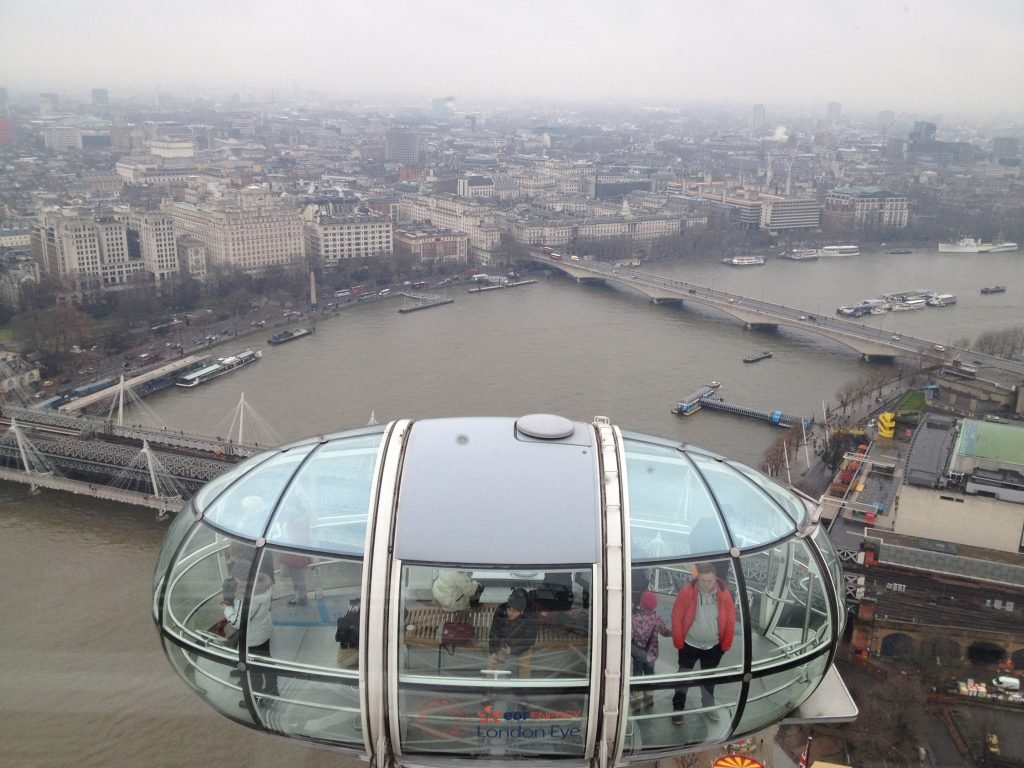 vista da London eye em Londres