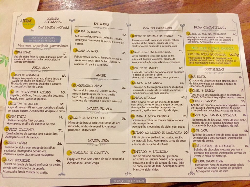 Cardápio-e-preços-do-restaurante-Aipim