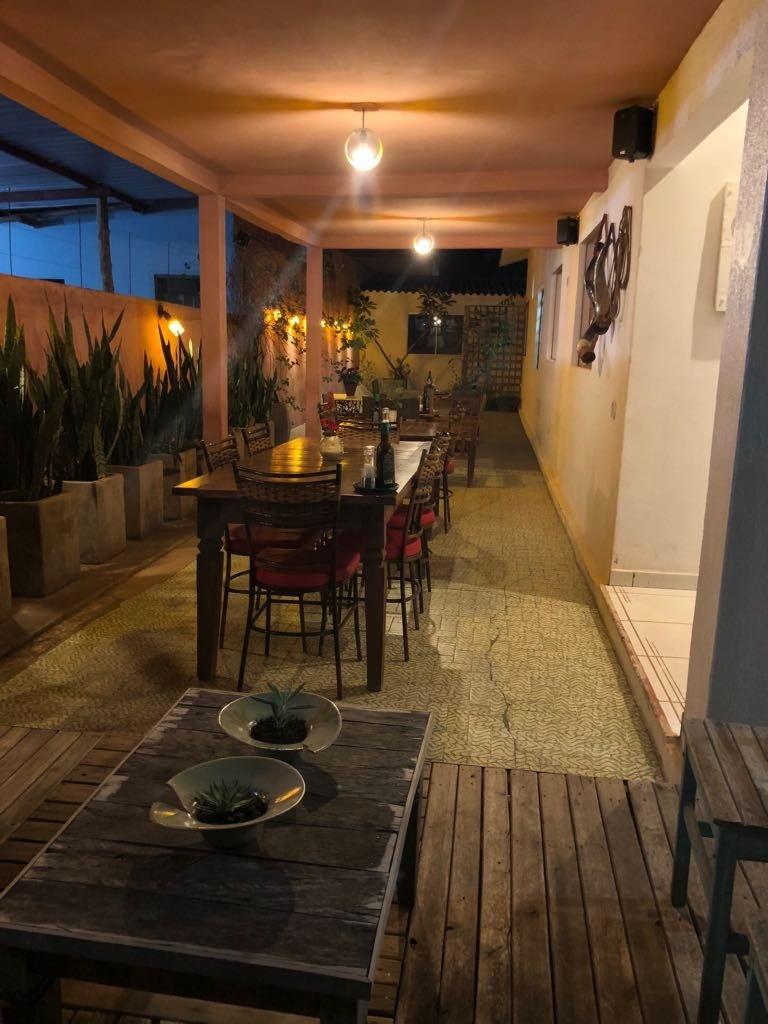 Ambiente externo do Restaurante Aipim