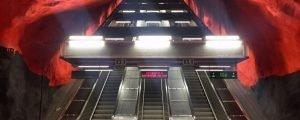 Roteiro pelas mais lindas estações de metrô de Estocolmo
