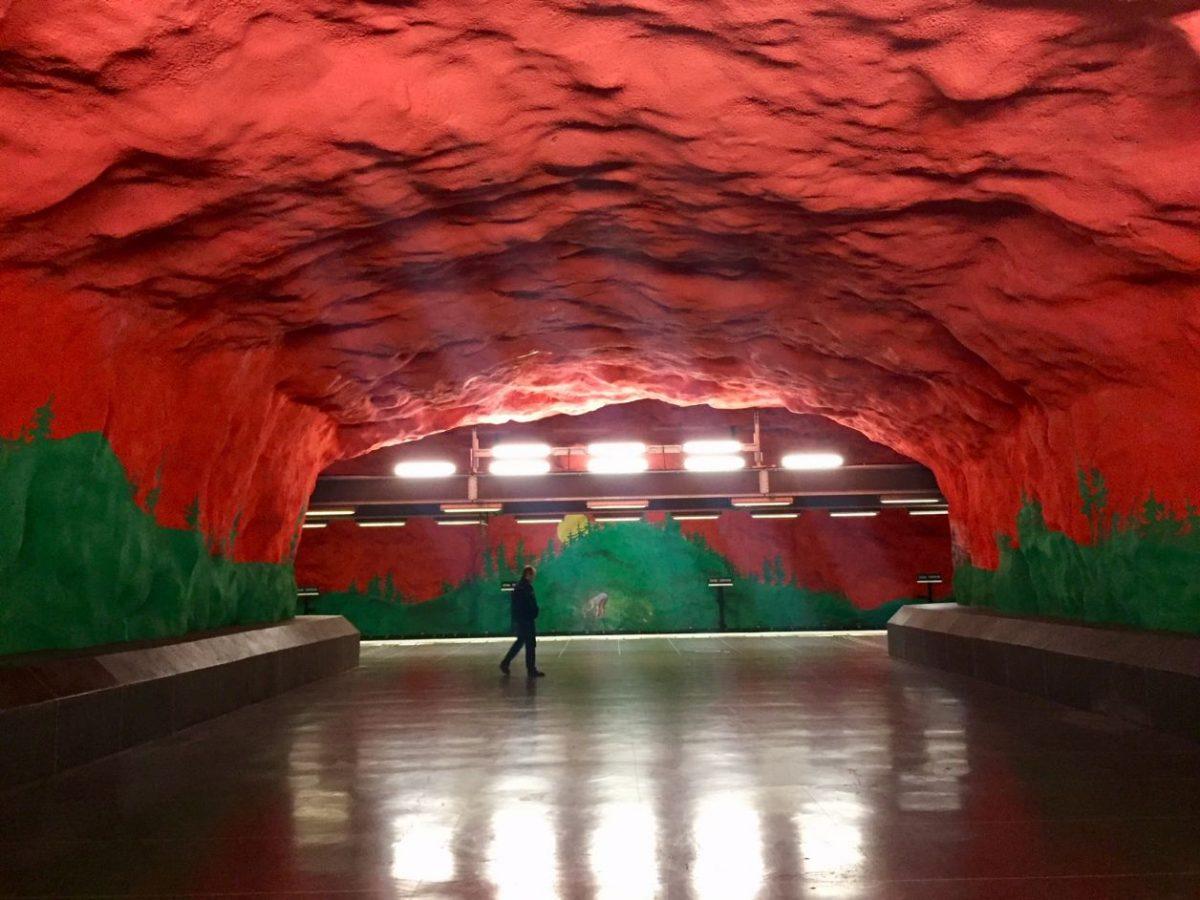 Estações mais bonitas metrô de Estocolmo