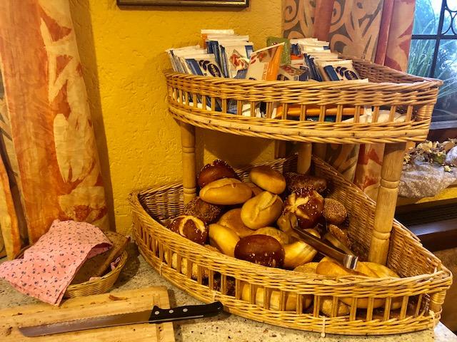 café da manhã pães