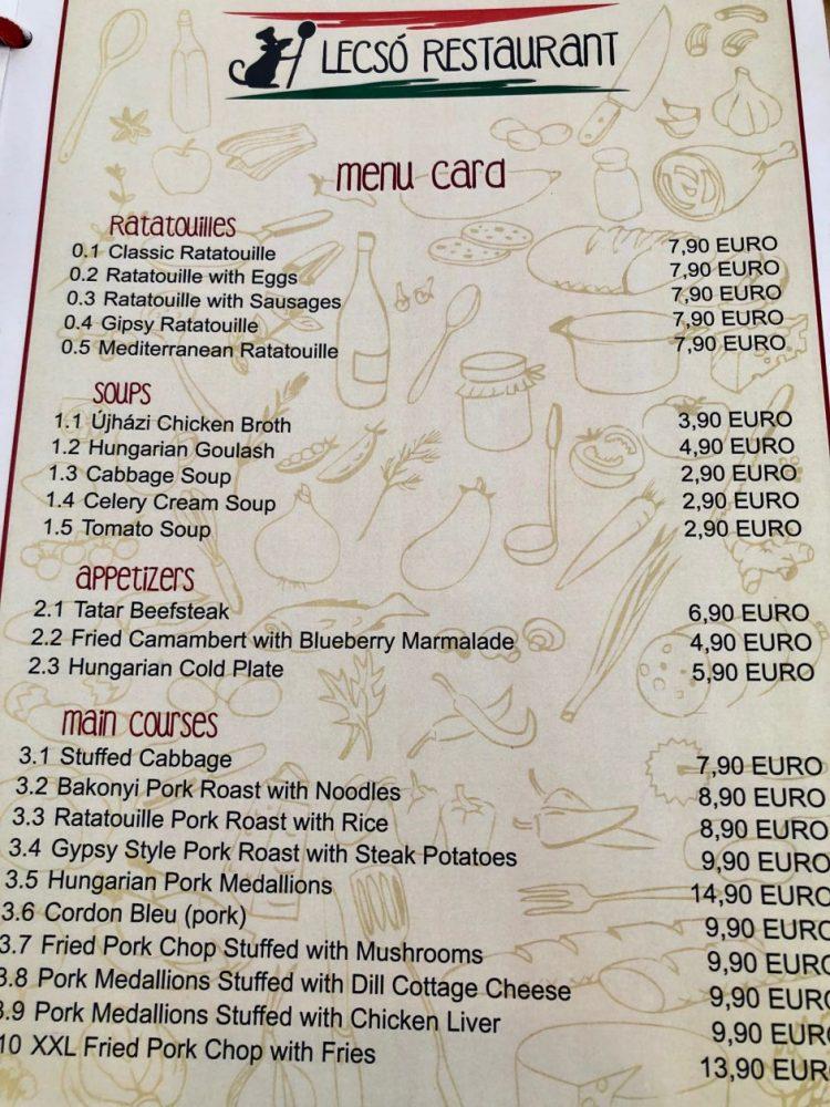 cardápio restaurante rotemburgo