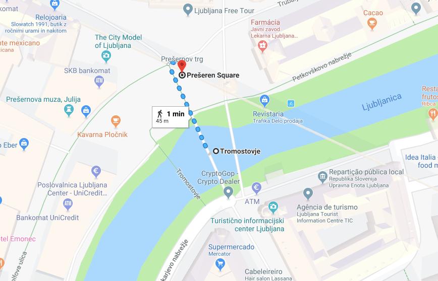 mapa centro liubliana