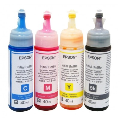 Tinta Epson Original 4 Frascos De 40ml, Total 160 Ml