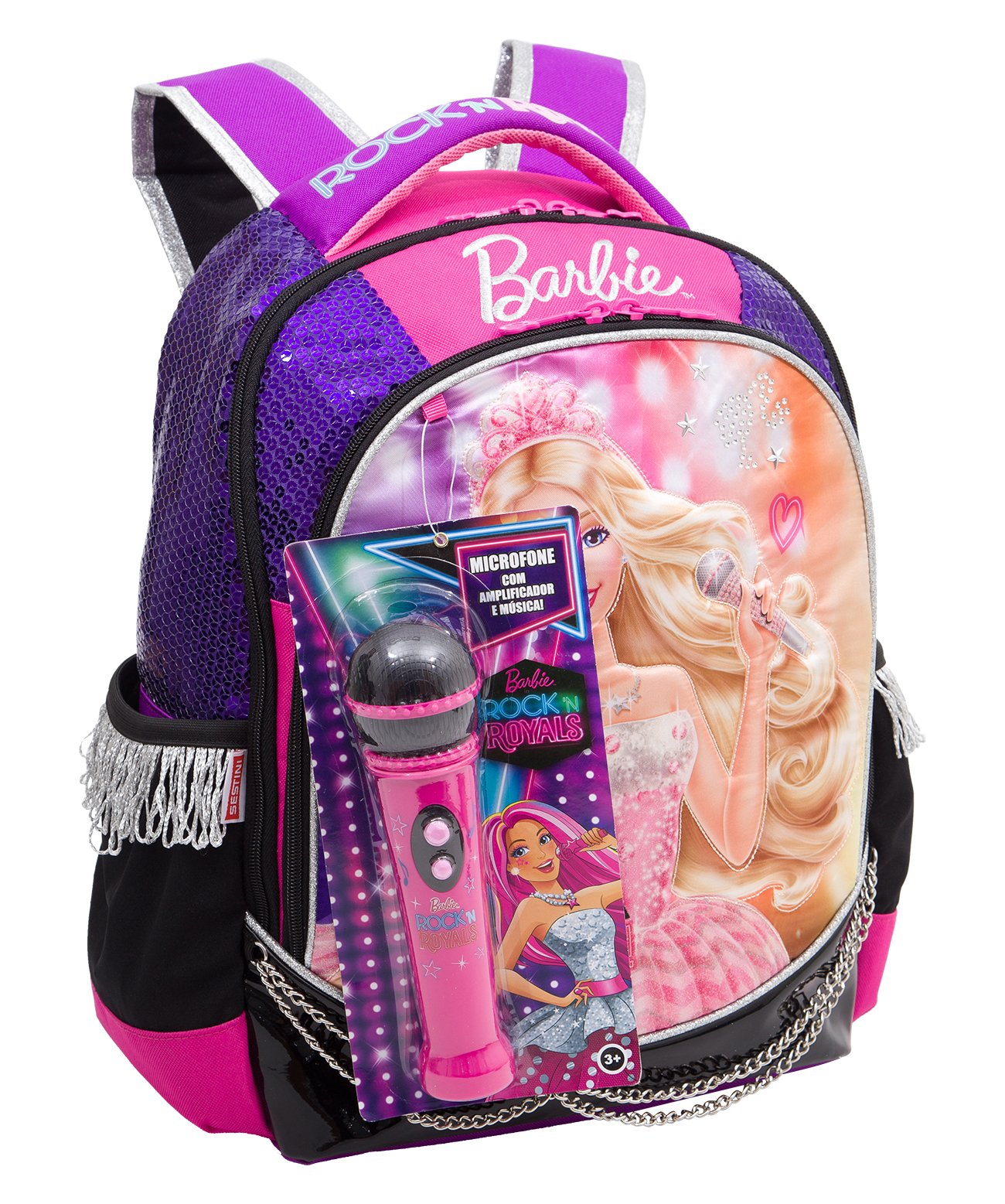 Mochila Grande Barbie Rock Royals