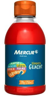 Tinta Guache 250 ml Gel Mercur Cores – 1UN