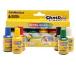 Tinta Guache Acrilex Show Color 18ml 6 Cores com Pincel