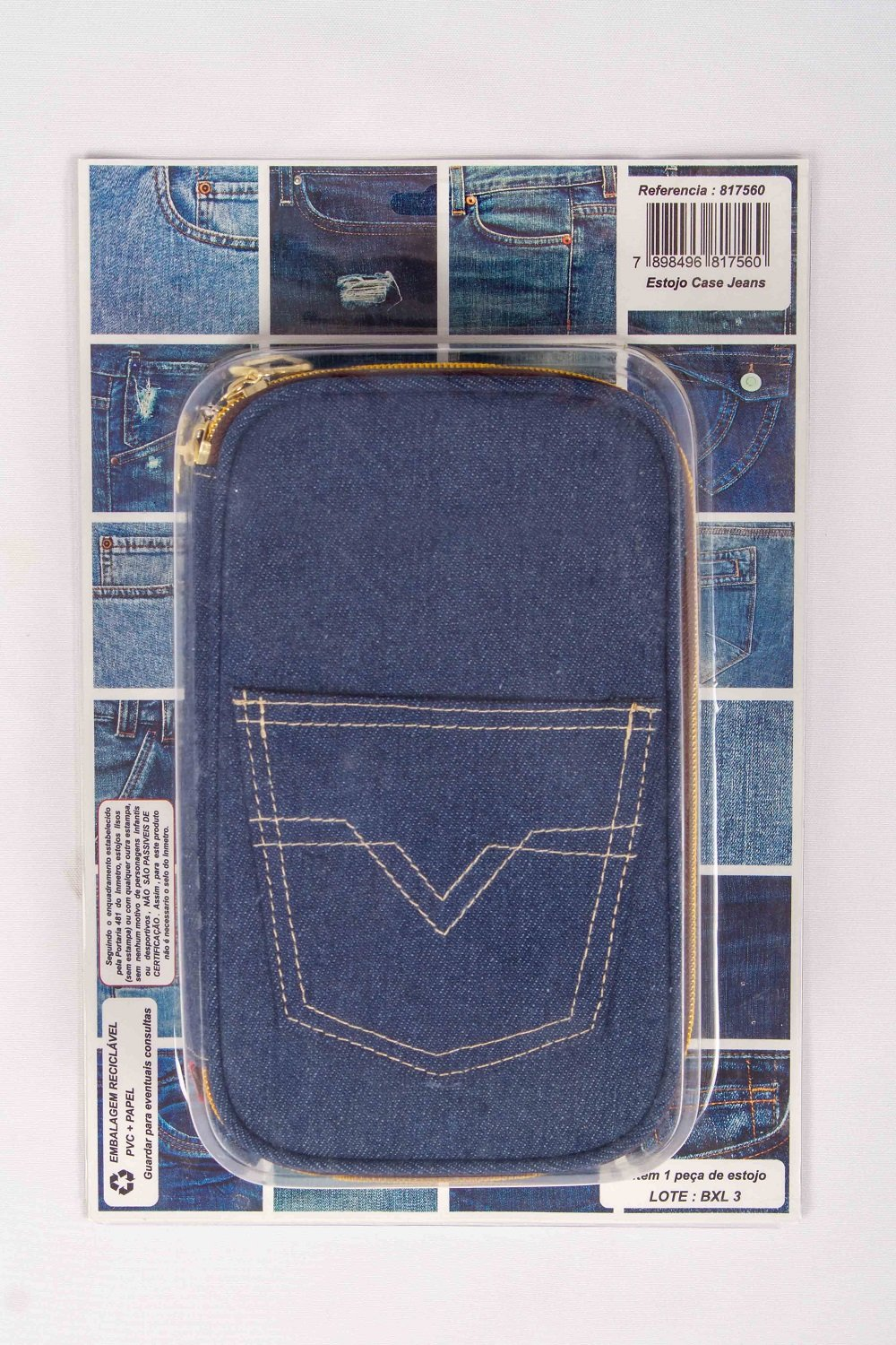 Estojo Case Jeans Daterra – 1UN