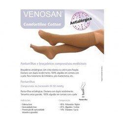 Meia Venosan Comfortline Cotton AD 20-30 M Curta Pé Aberto Bege