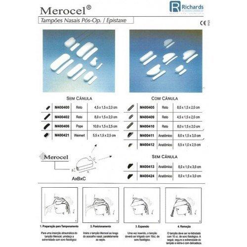 Tampão Nasal Merocel com Cânula 8cm