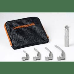 Laringoscópio Metaled100 Macintosh / Miller C/04 Lâminas 1,2,3,4  (Case Adulto)