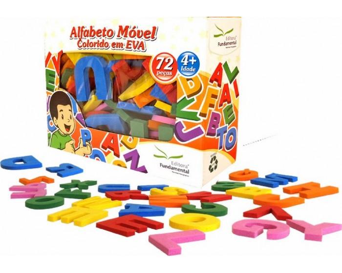 Alfabeto Móvel Colorido 72 Pçs