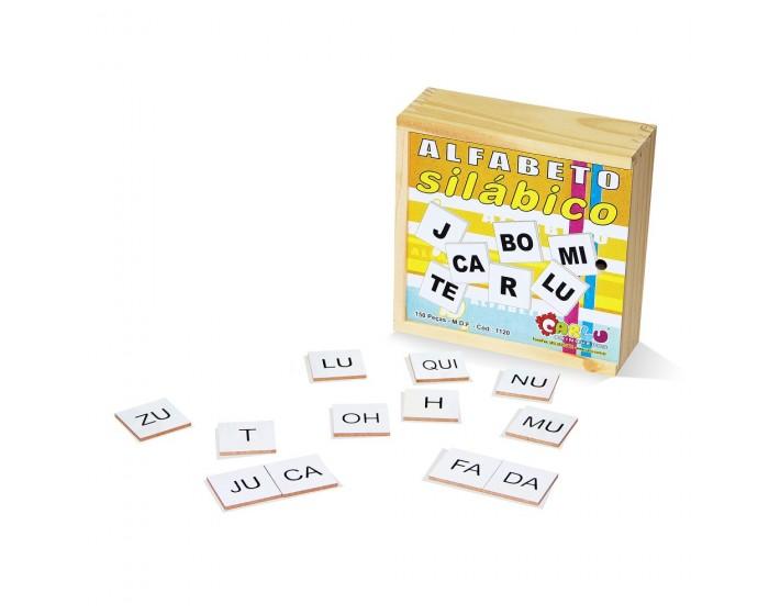 Alfabeto Silábico 150 Peças em MDF