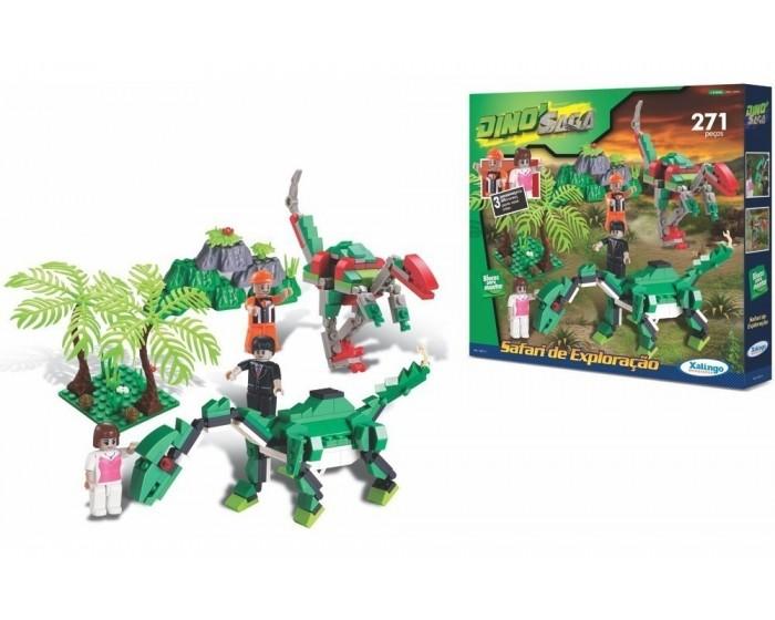 Blocos de Encaixe Dino Saga Safari de Exploração