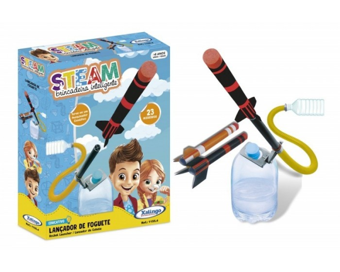 Brinquedo Educativo Steam Foguete Sustentável