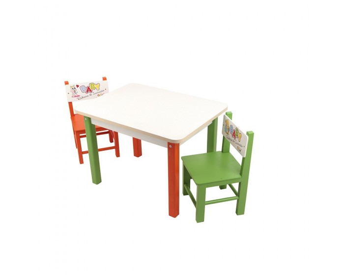 Mesa com 2 cadeiras Baby